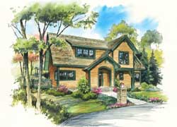 Bungalow Style Home Design Plan: 48-130