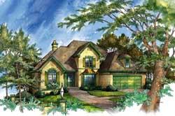 European Style House Plans Plan: 48-132