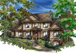 Craftsman Style Home Design Plan: 48-135