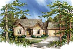 European Style Home Design Plan: 48-136