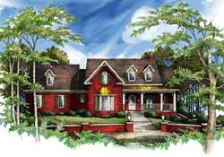 Country Style House Plans Plan: 48-137