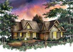 Southern Style Home Design Plan: 48-140