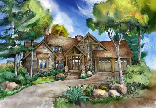 Craftsman Style Home Design Plan: 48-142