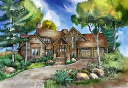 Craftsman Style Home Design Plan: 48-142