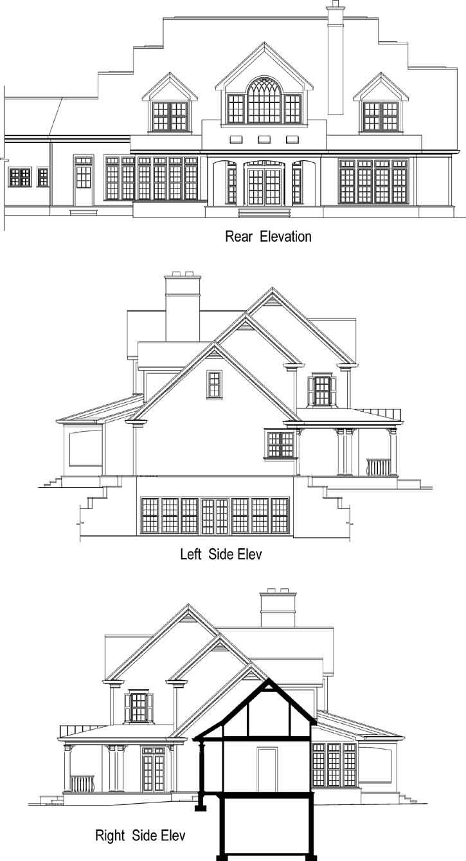 Rear Elevation Plan: 48-143