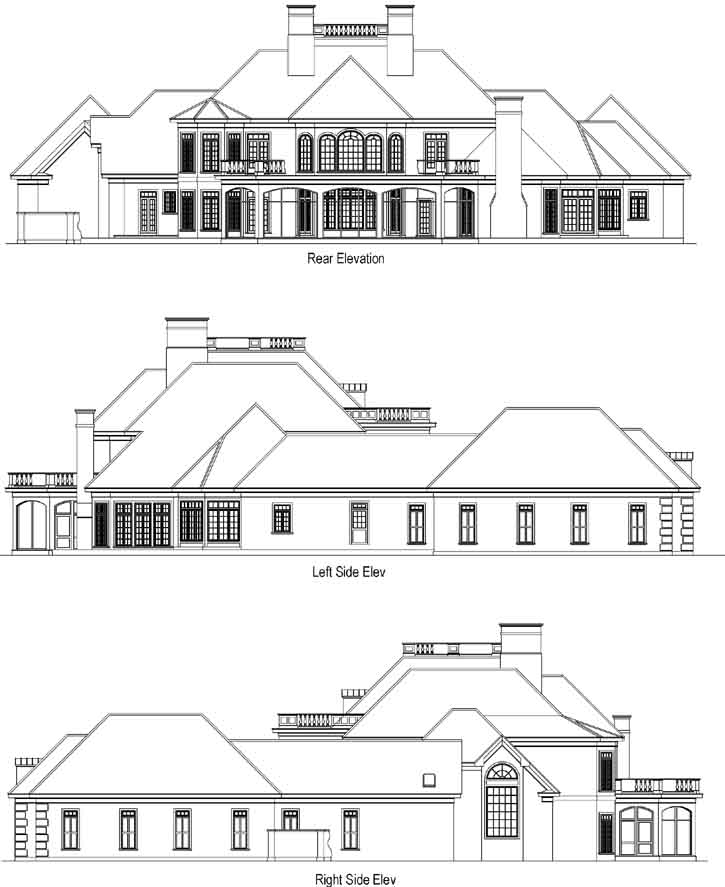 Rear Elevation Plan: 48-147