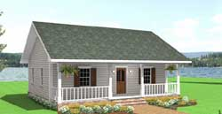 Country Style Home Design Plan: 49-101