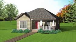 Craftsman Style Floor Plans Plan: 49-104