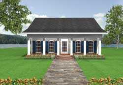 Southern-Colonial Style Floor Plans Plan: 49-105