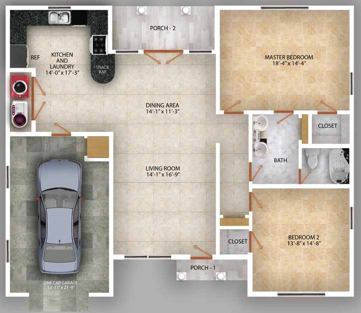 Main Floor Plan: 49-115