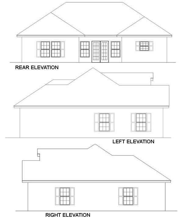 Rear Elevation Plan: 49-115