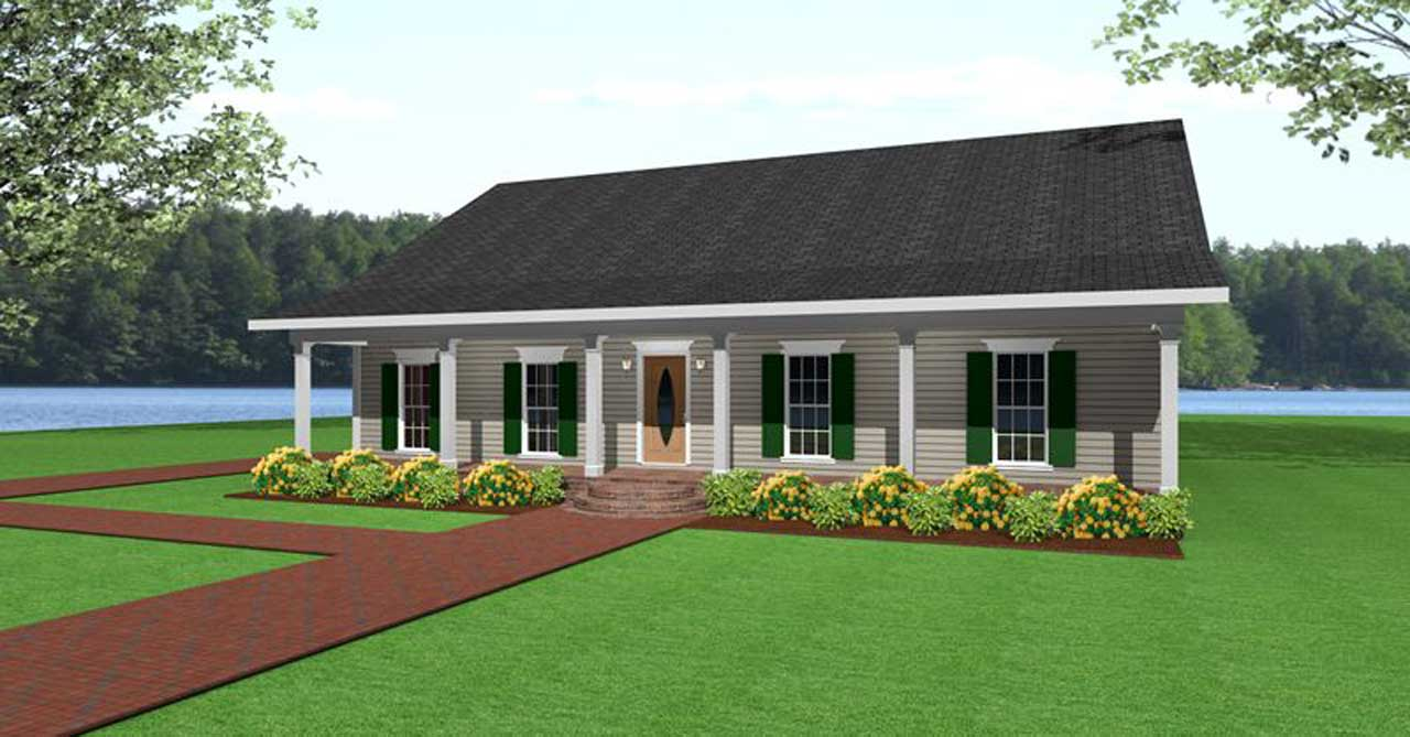 Country Style Floor Plans Plan: 49-119