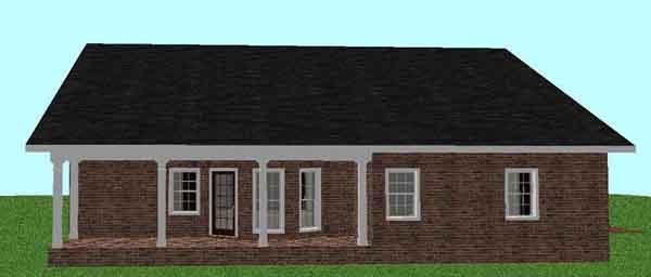 Rear Elevation Plan: 49-119