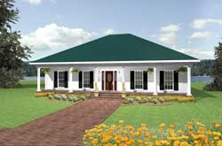 Southern Style Floor Plans Plan: 49-141