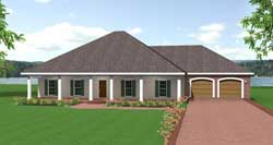 Southern Style Home Design Plan: 49-145