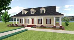 Country Style Home Design Plan: 49-149