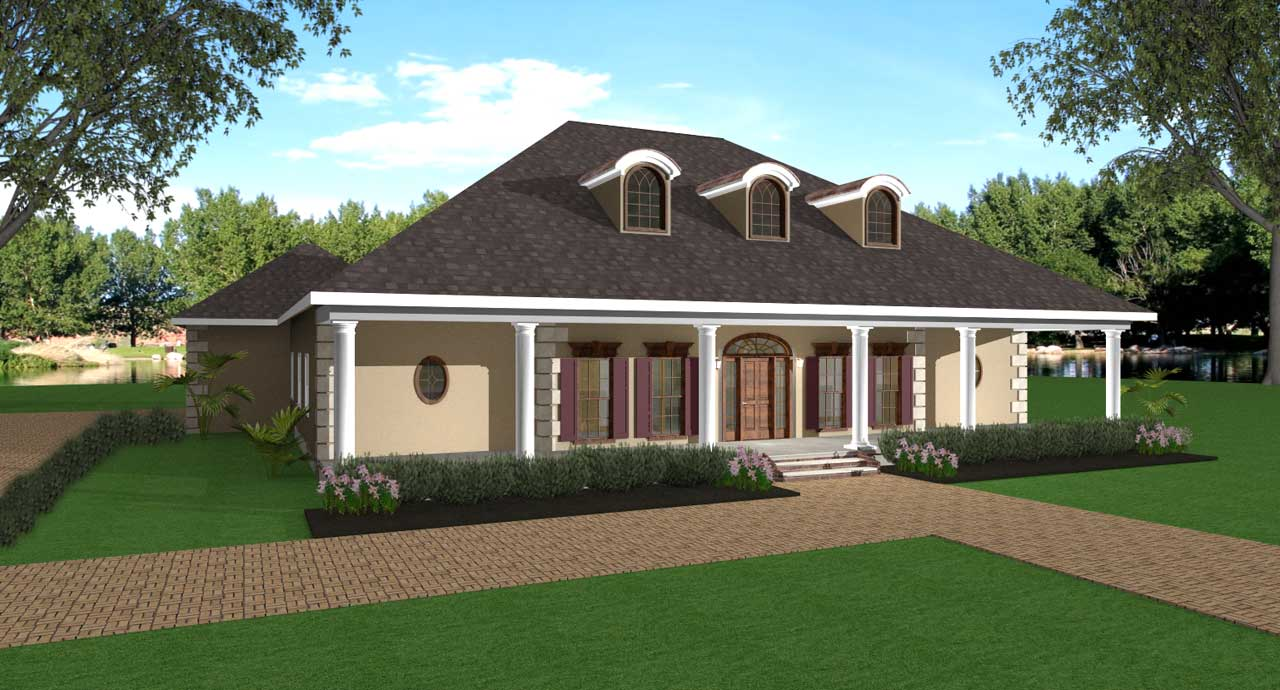 Southern Style Home Design Plan: 49-169