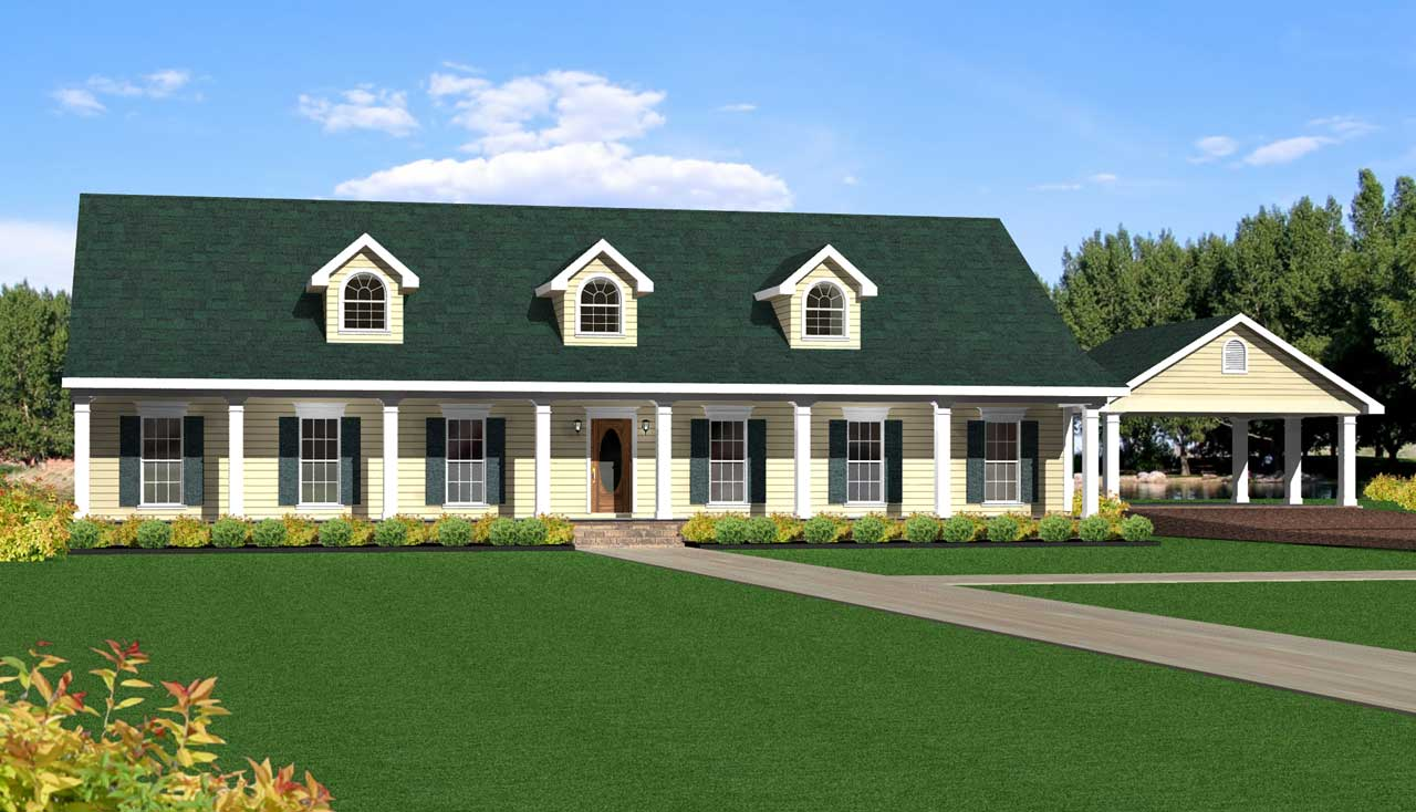 Southern Style Floor Plans Plan: 49-172