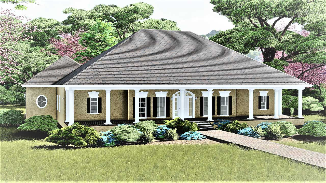 Southern Style House Plans Plan: 49-178