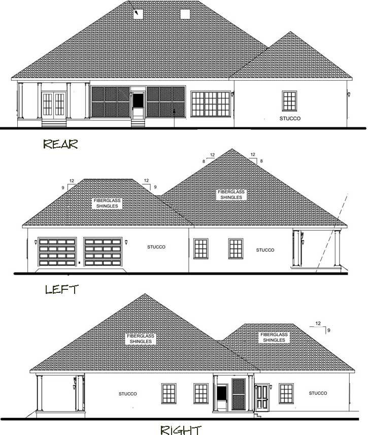 Rear Elevation Plan: 49-178
