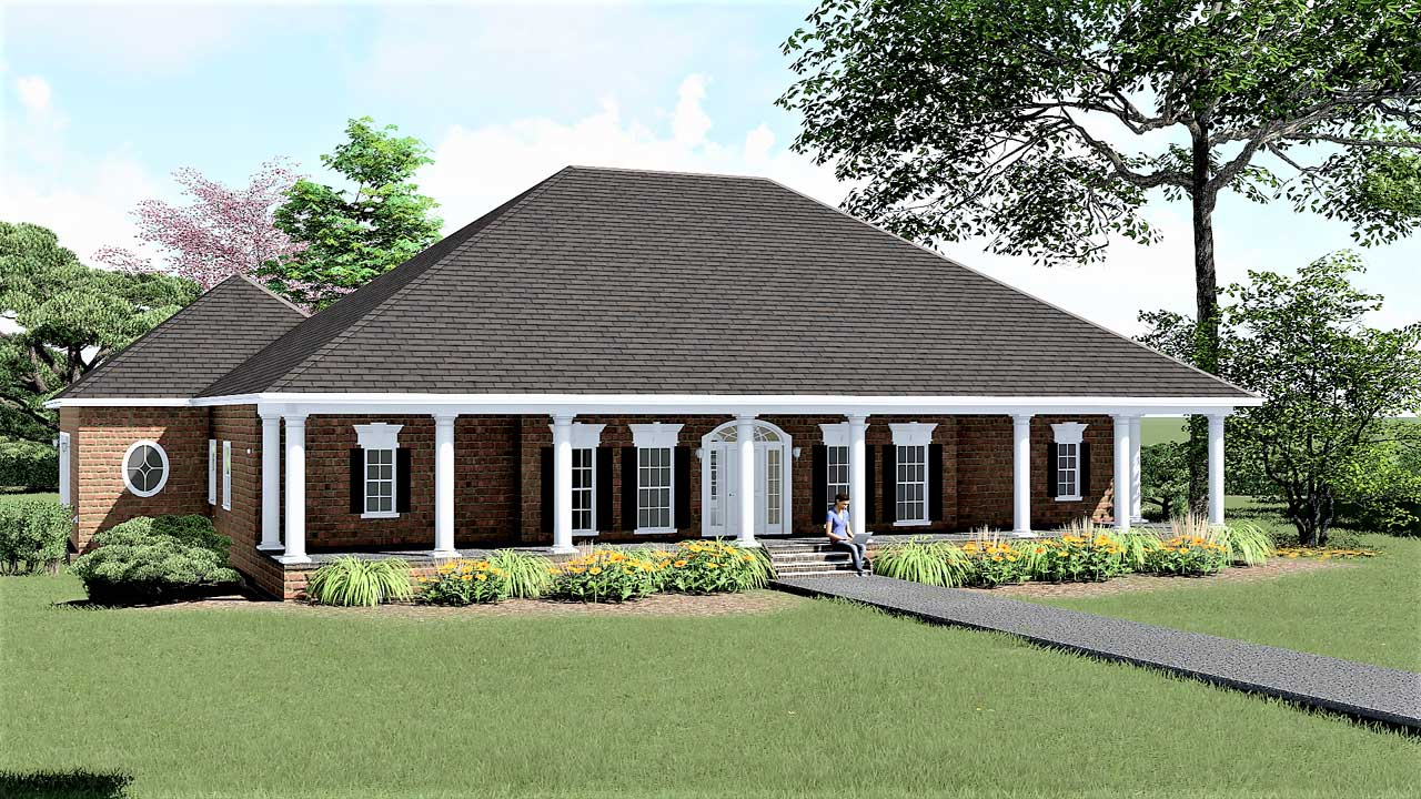 Southern Style Floor Plans Plan: 49-179