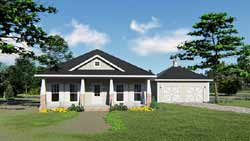 Craftsman Style Home Design Plan: 49-192