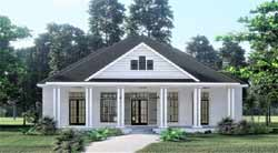 Cottage Style Home Design Plan: 49-199