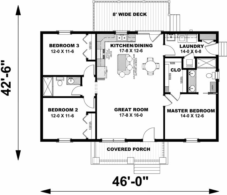 Main Floor Plan: 49-200