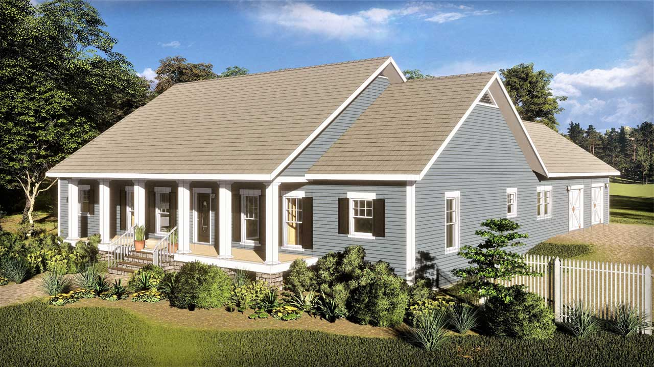 Country Style Floor Plans Plan: 49-203