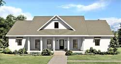 Modern-Farmhouse Style Home Design Plan: 49-209