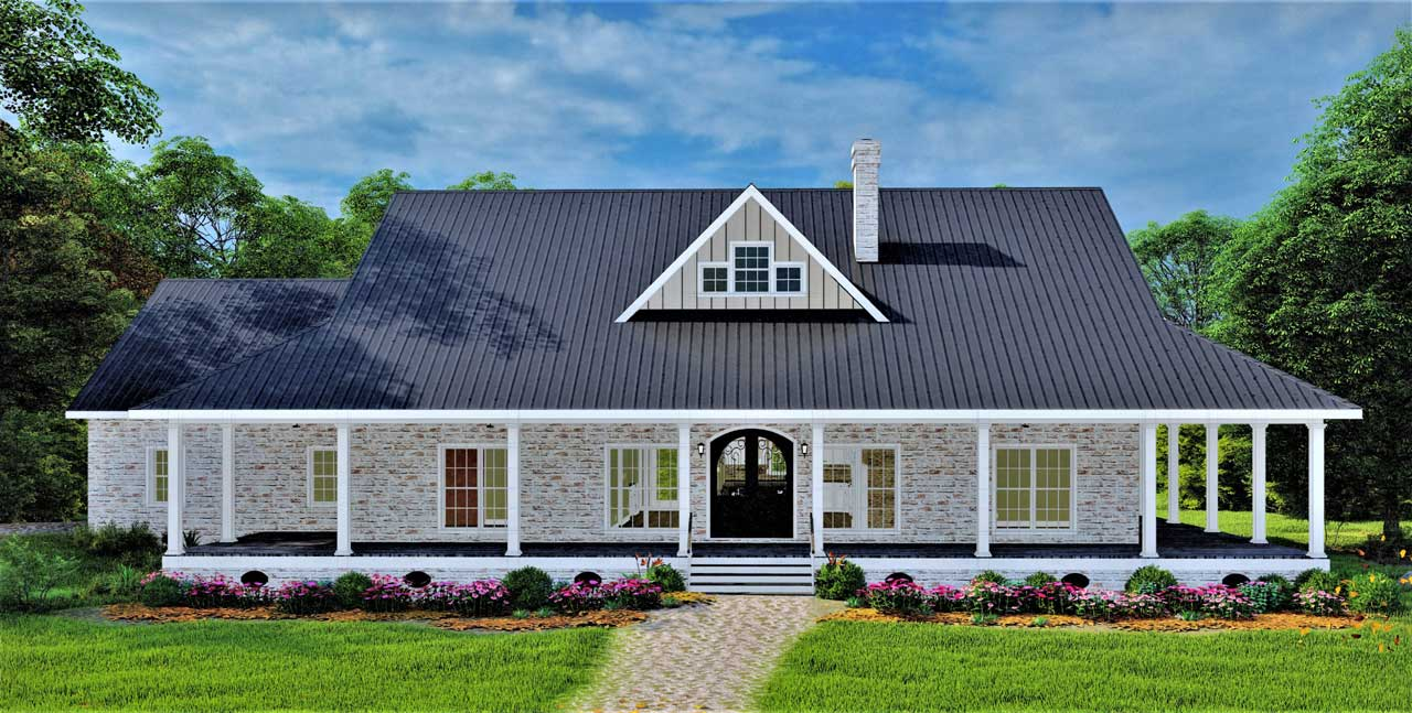 Farm Style Floor Plans Plan: 49-210