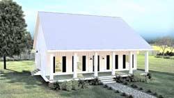 Modern-Farmhouse Style House Plans Plan: 49-215