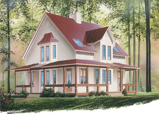 Farm Style House Plans Plan: 5-102
