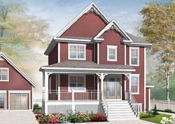 Country Style Home Design Plan: 5-1028