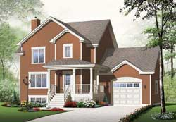 Traditional Style Home Design Plan: 5-1036