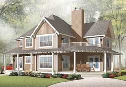 Country Style House Plans 5-1037