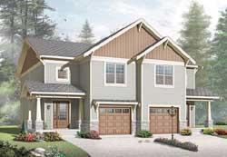 Craftsman Style Home Design Plan: 5-1044