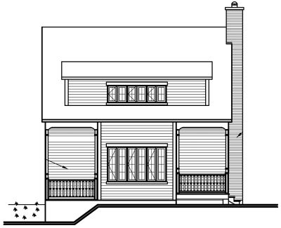 Rear Elevation Plan: 5-105