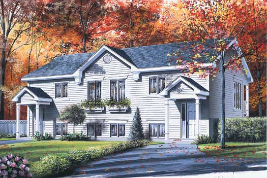 Traditional Style Home Design Plan: 5-106