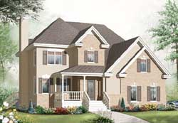 Colonial Style Floor Plans Plan: 5-1076
