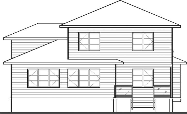 Rear Elevation Plan: 5-1077