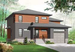Modern Style House Plans Plan: 5-1077