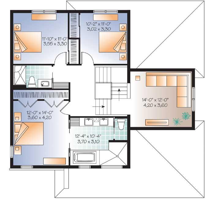 Upper/Second Floor Plan: 5-1077