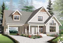 Craftsman Style Home Design Plan: 5-1078