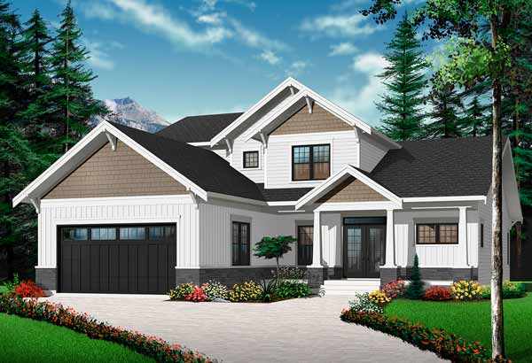Craftsman Style Floor Plans Plan: 5-1080