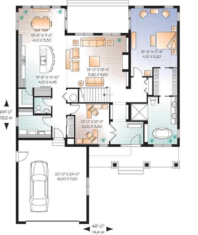 Main Floor Plan: 5-1080