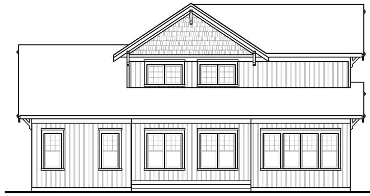Rear Elevation Plan: 5-1080