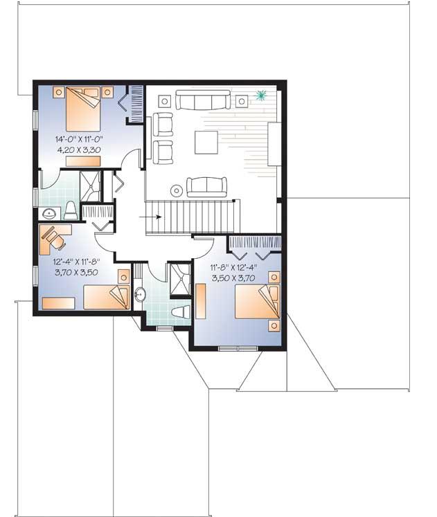 Upper/Second Floor Plan: 5-1080