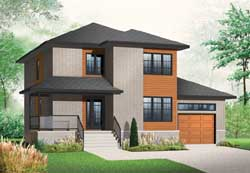 Modern Style House Plans Plan: 5-1094