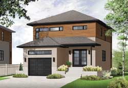Modern Style Floor Plans Plan: 5-1095
